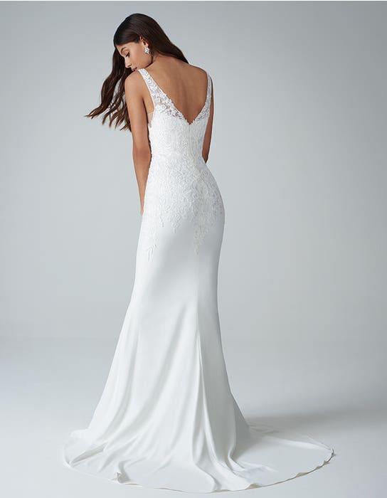 Sorrento sheath wedding dress back Anna Sorrano