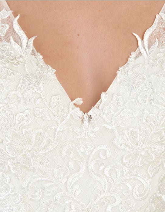 Sorrento sheath wedding dress detail Anna Sorrano