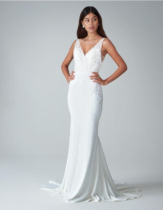 Sorrento sheath wedding dress front Anna Sorrano