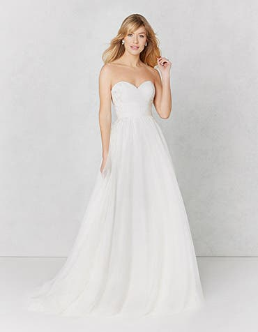 Spring aline wedding dress front Heidi Hudson th