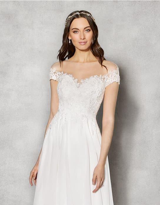 Sullivan aline wedding dress crop front Heidi Hudson