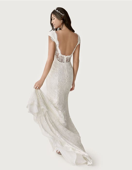 Summer sheath wedding dress back Heidi Hudson
