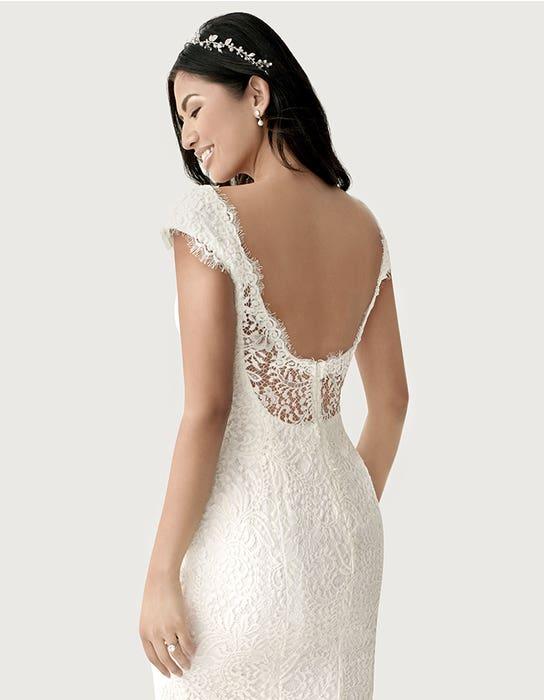 Summer sheath wedding dress back crop Heidi Hudson