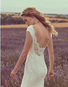 SUMMER - a soft lace sheath gown