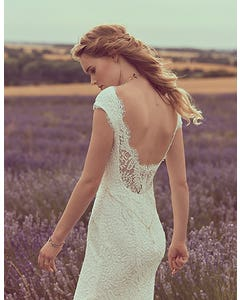 SUMMER - a low back stretch lace gown