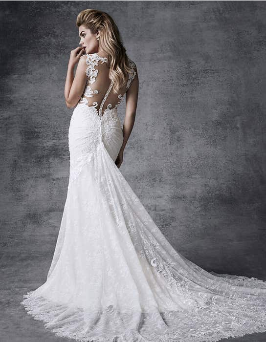 Suri fishtail wedding dress back Signature