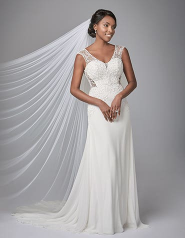 TANYA - a sparkly a-line gown