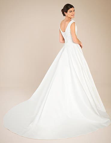 Tara Aline wedding dress back Anna Sorrano th