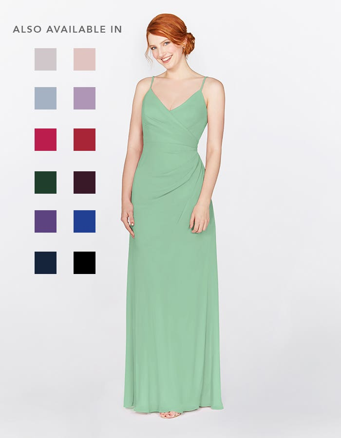 Thea mint green bridesmaids dress front Infinite th