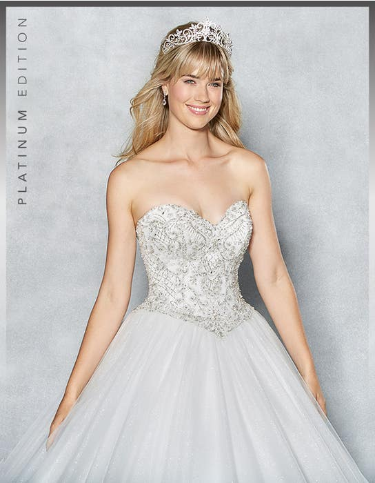 Tiana ballgown wedding dress crop front Viva Bride