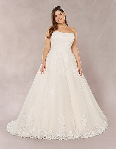 Tilly aline wedding dress front Bellami th