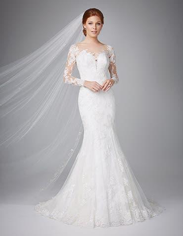 Venice fishtail wedding dress front Anna Sorrano th