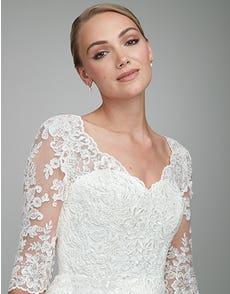 Veronica - a corded lace gown with sleeves