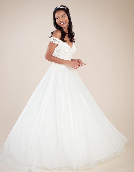 Violette ballgown wedding dress front Viva bride