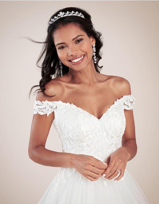Violette ballgown wedding dress front crop Viva bride