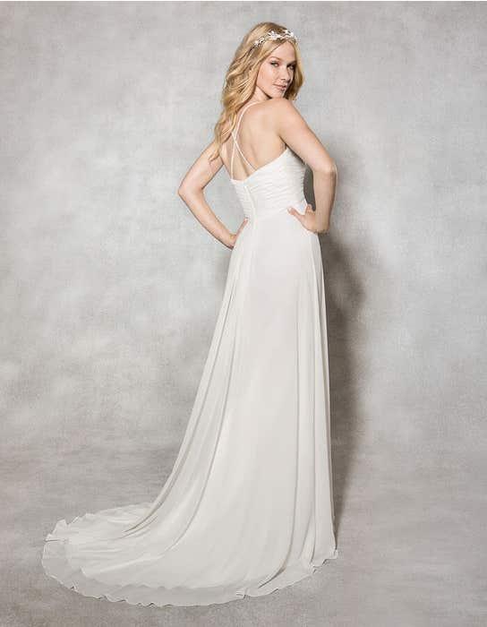 WILLOW - Een chiffon a-lijn jurk | WED2B