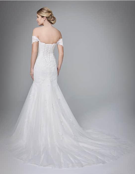 Winslet fishtail wedding dress back Anna Sorrano