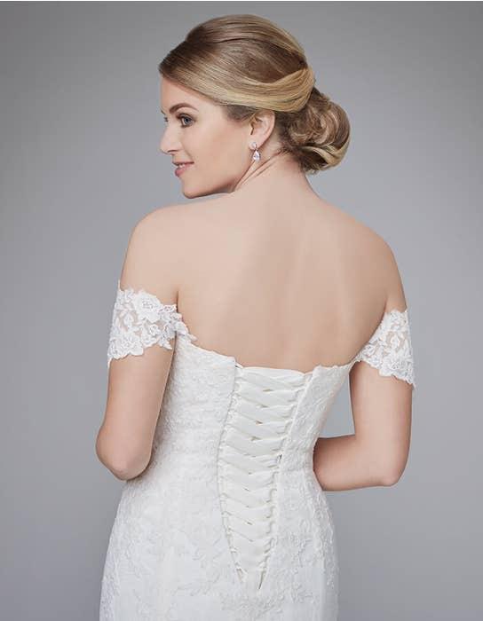 Winslet fishtail wedding dress back crop Anna Sorrano