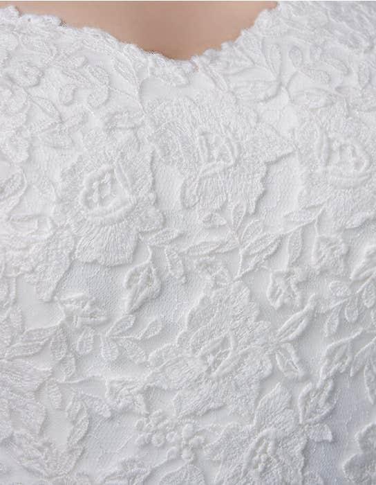 Winslet fishtail wedding dress detail Anna Sorrano