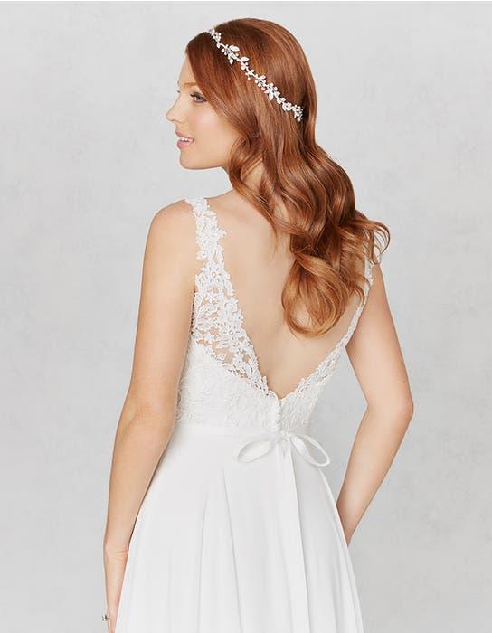 Winter aline wedding dress crop back Heidi Hudson