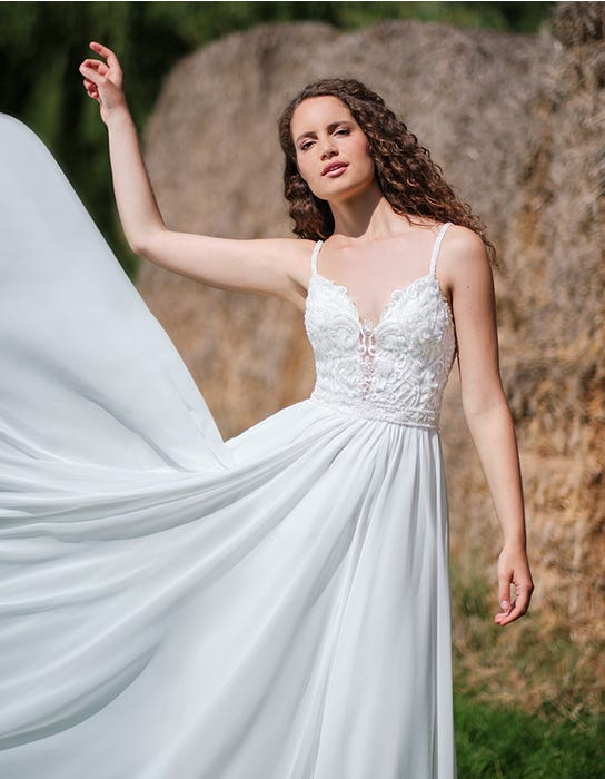 Adie - a contemporary embroidered A-line | WED2B