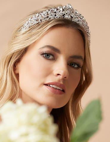 ALEXI  - a modern statement crystal tiara