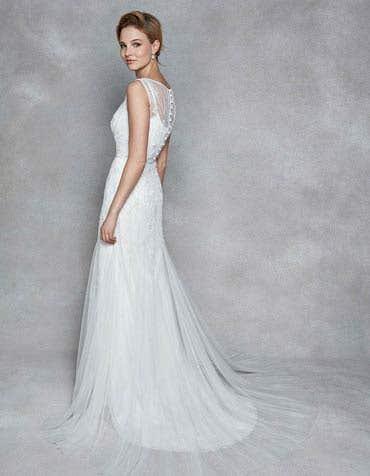 APHRODITE - an elegant soft tulle sheath | WED2B