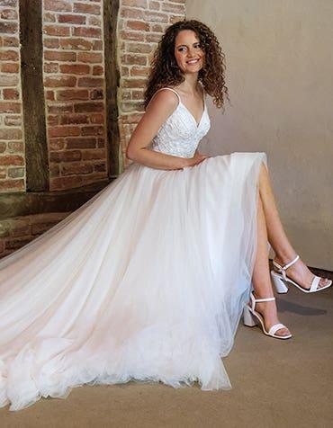 Ariella - a beaded ball gown with voluminous skirt