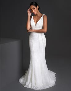 Aubrey - a fully beaded Art Deco inspired gown