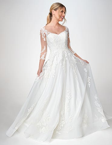 Azariah - a beautiful floral wedding dress