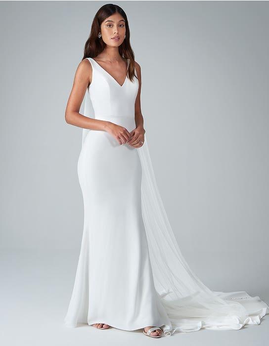 bekkie sheath wedding dress front anna sorrano