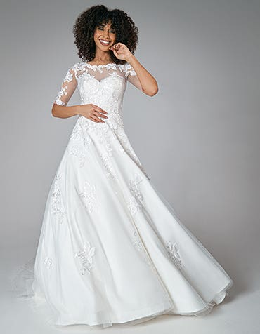 a line wedding dress,