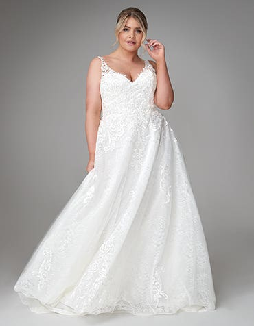 Bridgette - a sleek lace wedding dress
