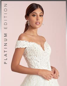 Brilyn - an off the shoulder A-line