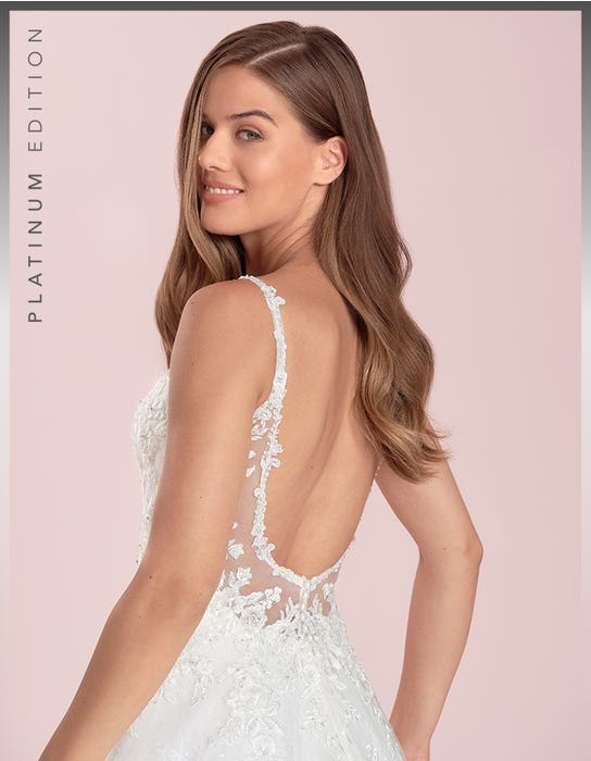 Brogan - a low back sparkling chantilly gown | WED2B