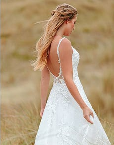 Brogan - a low back sparkling chantilly gown