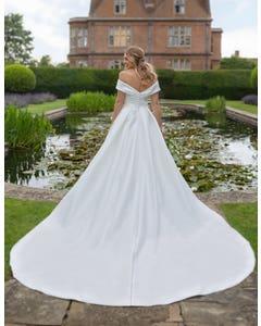 Cambridge - ein schulterfreies Kleid mit Taschen
