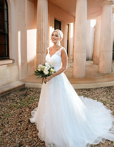 Cecilia - a magical lace up wedding gown