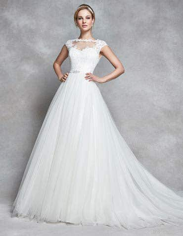 CELESTE - une robe trapèze romantique en tulle