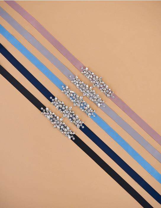 CHARM - sierlijke riem met kristallen voor bruidsmeisjes   WED2B