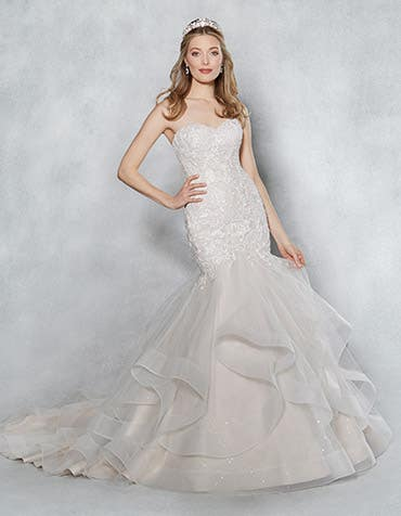 cherish fishtail wedding dress front thumbnail viva bride