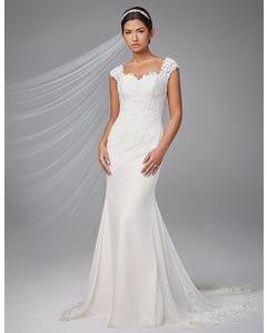 Adina sheath wedding dress front Anna Sorrano thumbnail