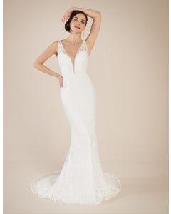 Bali sheath wedding dress front Signature