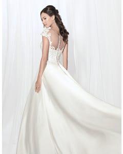 Dawson aline wedding dress front crop Anna Sorrano th