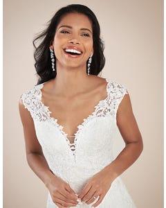 Jamie fit _ flare wedding dress front crop Viva Bride th