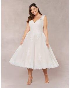Lula short wedding dress front Bellami th
