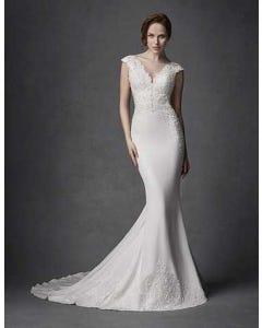 Phoenix sheath wedding dress front Signature th