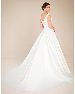 Tara Aline wedding dress back Anna Sorrano th