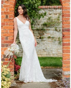 dion sheath wedding dress front edit signature th