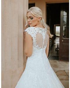 jamie fit and flare wedding dress edit back crop viva bride th